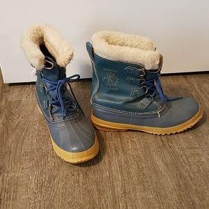 Sorel Manitou Vintage Blue Winter Duck Boots 9